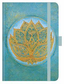 """Premium Timer Big """"Lotus"""" 2020: Hochwertiger Buchkalender. Terminplaner mit Wochenkalendarium, Gummiband und Stifthalter. 12 x 17 cm"""
