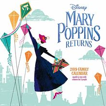 Mary Poppins Classic Family Organiser Official 2019 Calendar - Square Wall Calendar Format