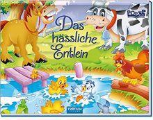 """Pop-up-Mini """"Das hässliche Entlein"""": Wattierter Einband mit Glitzer"""