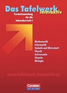 Das Tafelwerk interaktiv - Allgemeine Ausgabe: Schülerbuch: Formelsammlung für die Sekundarstufe I