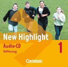 New Highlight - Allgemeine Ausgabe: Band 1: 5. Schuljahr - Lieder- und Text-CDs (Vollfassung): Texte zum Schülerbuch