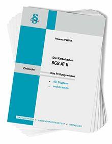 Karteikarte BGB AT II (Karteikarten - Zivilrecht)