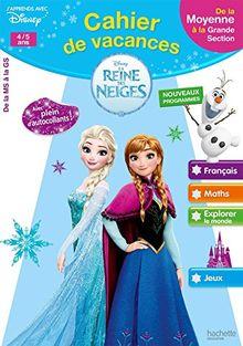Cahier de vacances La Reine des Neiges 4/5 ans : De la Moyenne à la Grande Section