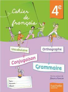 Cahier de français, 4e