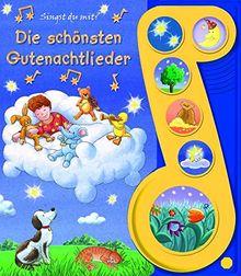Die schönsten Gutenachtlieder - Liederbuch mit Sound -Pappbilderbuch mit 6 Melodien für Kinder ab 3 Jahren