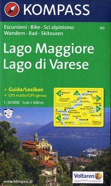 Lago Maggiore, Lago di Varese: Wander-, Bike- und Skitourenkarte. 1:50.000