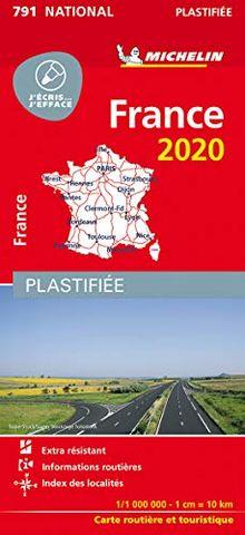 Michelin Frankreich 2020 (plastifiziert): Straßen- und Tourismuskarte 1:1.000.000 (MICHELIN Nationalkarten)