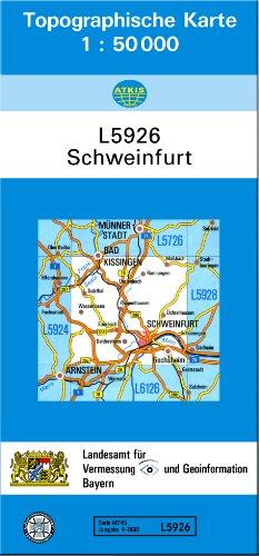 Topographische Karte Bayern.Tk50 L5926 Schweinfurt Topographische Karte 1 50000