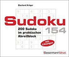 Sudoku Block 154: 200 Sudoku im praktischen Abreißblock