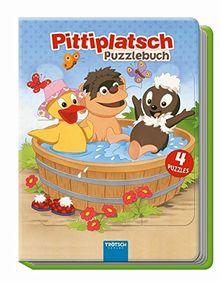Puzzlebuch Pittiplatsch: wattierter Einband: 4 Puzzle, 12-teilig