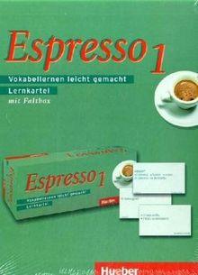 Espresso 1. Ein Italienischkurs: Espresso 1: Vokabellernen leicht gemacht / Lernkartei mit 2 Faltboxen