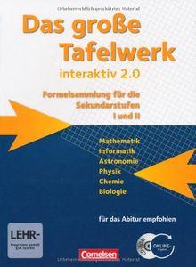 Das große Tafelwerk interaktiv 2.0 - Allgemeine Ausgabe (außer Niedersachsen und Bayern): Schülerbuch mit CD-ROM