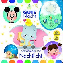 Gute Nacht! Schlaflieder mit Nachtlicht - Disney Baby - Pappbilderbuch mit abnehmbarem Nachtlicht und 6 stimmungsvollen Gute-Nacht-Liedern zum Einschlafen für Kinder ab 18 Monaten