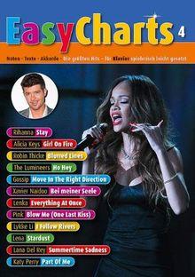 Easy Charts 4: Die größten Hits spielerisch leicht gesetzt. Band 4. Klavier / Keyboard. Spielbuch. (Music Factory)