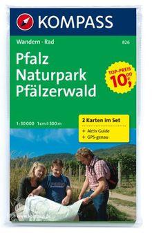 Pfalz - Naturpark Pfälzerwald 1 : 50 000: Wanderkarten-Set mit Aktiv Guide in der Schutzhülle. GPS-genau