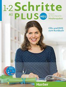Schritte plus Neu - Deutsch als Fremdsprache, Bd.1+2 : Medienpaket, 5 Audio-CDs und 1 DVD zum Kursbuch