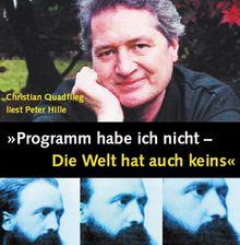 'Programm habe ich nicht - Die Welt hat auch keins', 1 Audio-CD