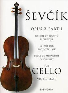 Sevcik Cello Sudies. Opus 2 Part 1. Schule der Bogentechnik