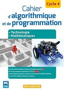 Cahier d'algorithmique et de programmation Cycle 4