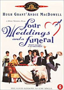 STUDIO CANAL - FOUR WEDDINGS AND A FUNERAL (1 DVD)