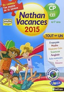 Cahier de vacances NATHAN primaire - Du CP vers le CE1
