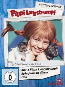 Astrid Lindgren: Pippi Langstrumpf - Alle 4 Pippi Langstrumpf-Spielfilme in dieser Box (Sp [4 DVDs]
