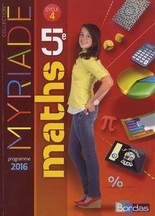 Myriade Mathématiques 5e Cycle 4 : Manuel de l'élève