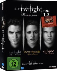 Die Twilight Saga 1-3 - Was bis(s)her geschah... (inkl. Sammelkarte) [Limited Edition] [3 DVDs]