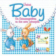 Babyalbum Unser Baby blau
