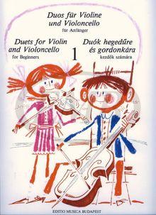 Duos 1 Fuer Anfaenger Vl + Vc. Violine, Violoncello