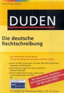 Duden 01. Die deutsche Rechtschreibung. Office-Bibliothek. CD-ROM für Windows, Mac OS X und Linux