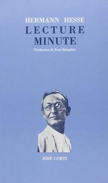 Lecture minute (Jose Corti)