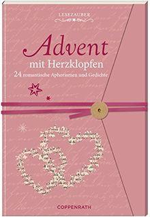 Briefbuch - Advent mit Herzklopfen: 24 romantische Aphorismen und Gedichte