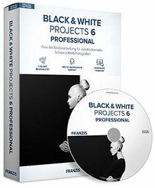 FRANZIS BLACK & WHITE projects 6 professional | Perfekte Schwarz-Weiß-Fotografie | für Windows PC und Mac |CD-ROM