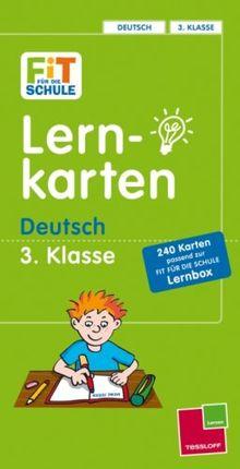 Fit für die Schule: Lernkarten Deutsch 3. Klasse