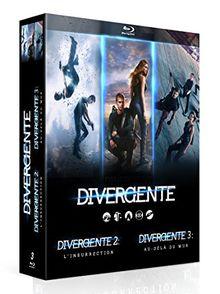 Coffret divergente : divergente ; divergente 2 - l'insurrection ; divergente 3 - au-delà du mur [Blu-ray]