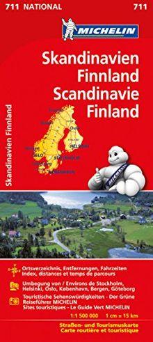 Michelin Skandinavien - Finnland: Straßen- und Tourismuskarte (Michelin Nationalkarte)