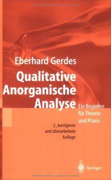 Qualitative Anorganische Analyse: Ein Begleiter für Theorie und Praxis (German Edition)