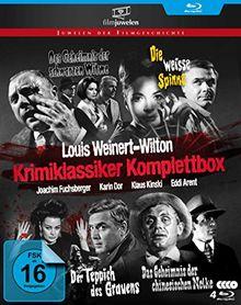 Louis Weinert-Wilton - Krimiklassiker Komplettbox (Der Teppich des Grauens / Die weiße Spinne / Das Geheimnis der schwarzen Witwe / ..chinesischen Nelke) - Filmjuwelen [4 Blu-rays]