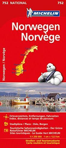 Michelin Norwegen: Straßen- und Tourismuskarte (Michelin Nationalkarte)