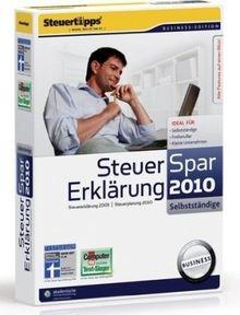 Steuer-Spar-Erklärung 2010 für Selbstständige (für Steuerjahr 2009)