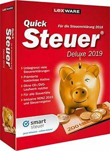 Lexware QuickSteuer Deluxe 2019 Minibox|Einfache und schnelle Steuer-Software für die private und gewerbliche Steuererklärung|Kompatibel mit Windows 7 oder aktueller