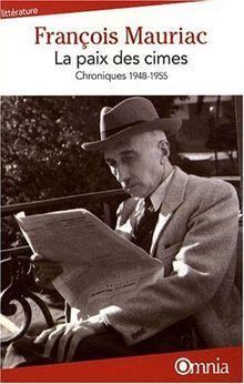 La paix des cimes : Chroniques 1948-1955