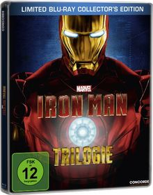 Iron Man - Trilogie - Steelbook inkl. exklusivem Iron Man Comic [Blu-ray] [Limited Collector's Edition] [Limited Edition]