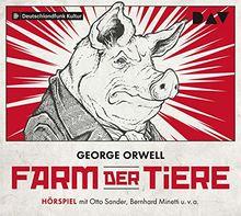 Farm der Tiere: Hörspiel mit Otto Sander, Bernhard Minetti u.v.a. (1 CD)