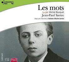 Les Mots, Lu Par Michel Bouquet (1cd MP3)