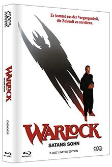 Warlock : Satans Sohn - Uncut (DVD+Blu-Ray) auf 666 limitiertes Mediabook Cover B