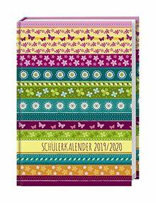 Streifen Floral Schülerkalender A5 2020 11,5x16,3cm