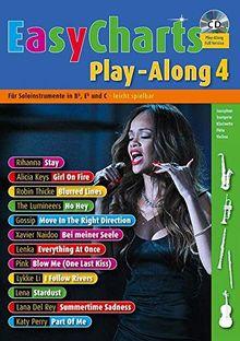 Easy Charts Play-Along: Die größten Hits spielerisch leicht gesetzt. Band 4. C/Eb/Bb-Instrument. Spielbuch mit CD. (Music Factory)