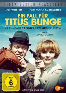 Ein Fall für Titus Bunge - Die komplette 13-teilige Krimiserie mit Ralf Wolter und Ruth Maria Kubitschek (Pidax Serien-Klassiker) [2 DVDs]